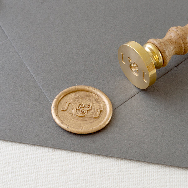 CHIC MONOGRAM WAX SEAL STAMP - GEORGINA