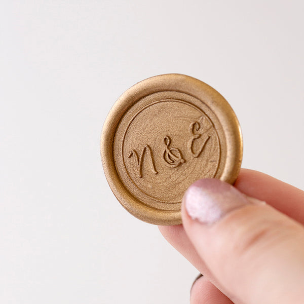 Gold Monogram Wax Seals | Heirloom Seals