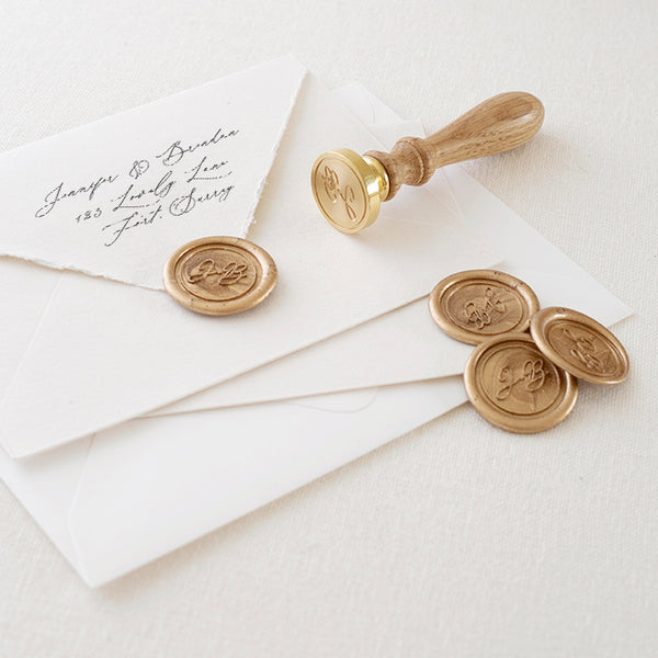 Monogram Wax Seal Stamp - Style 13