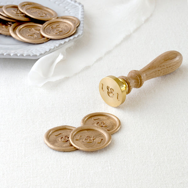 Classic Monogram Wax Seal Stamp | Heirloom Seals