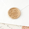 Gold Botanical Monogram Wax Seals | Heirloom Seals