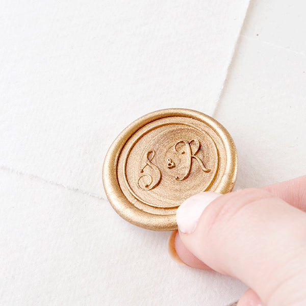 MONOGRAM SELF-ADHESIVE WAX SEALS - KAYLEE