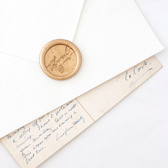 Gold 'Thank You' Wax Seal for Weddings | Heirloom Seals