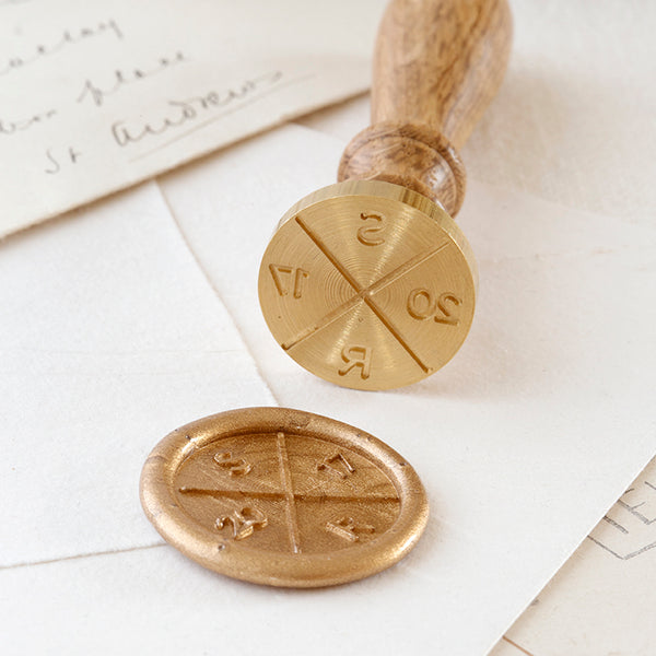 Gold 'Save the Date' Wax Seal for Wedding Invitations | Heirloom Seals