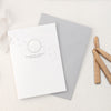 Reindeer Footprints Greeting Card with Hand Stamped Wax Seal | Heirloom Seals