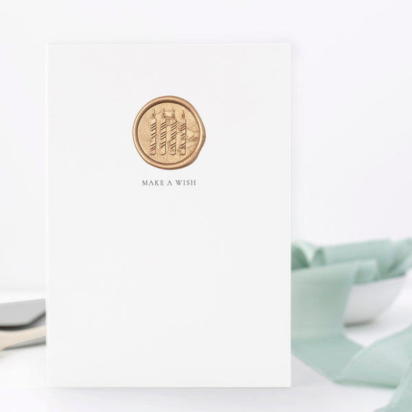 Make A Wish Birthday Candles Greeting Card | Heirloom Seals