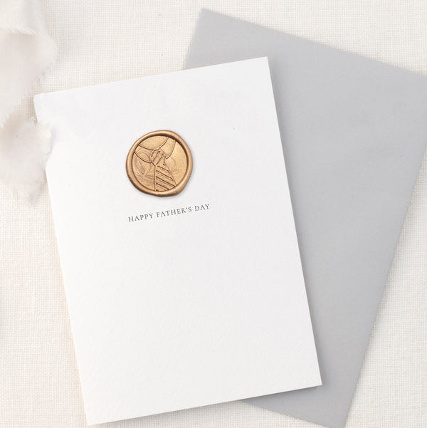 Shirt & Tie Happy Father's Day Greeting Card with Hand Stamped Wax Seal | Heirloom Seals