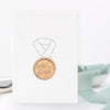 Happy Father's Day No.1 Dad Greeting Card with Hand Stamped Wax Seal | Heirloom Seals