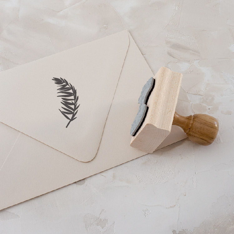 Leaf Rubber Stamp for Fine Art Wedding Invitations | Heirloom Seals