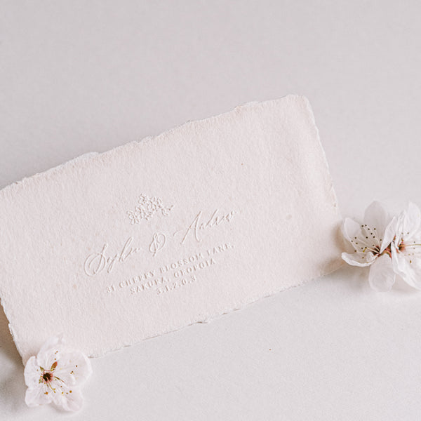 Misaki Cherry Blossom Return Addres Embosser for Embossing Wedding Invitation Envelopes | 'Sakura' Cherry Blossom Embellishments for Blush Pink Spring Wedding | Heirloom Seals