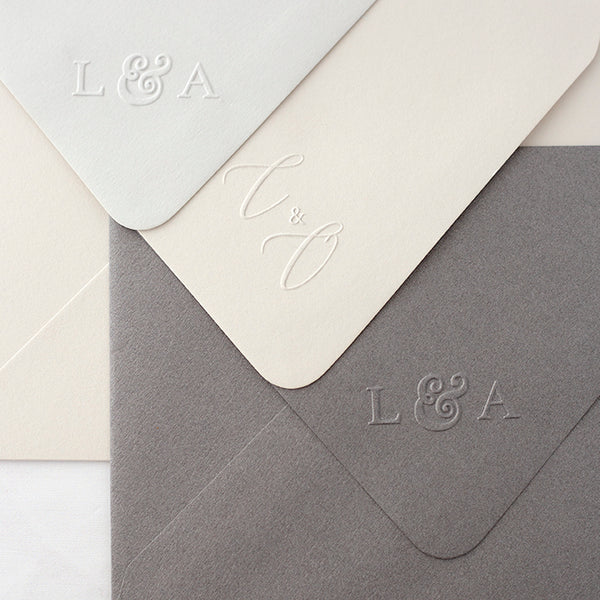 Classic Chic Monogram Embosser | Embossed Envelope | Heirloom Seals