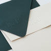 Minimal Classic Monogram Embosser | Embossed Envelopes | Heirloom Seals