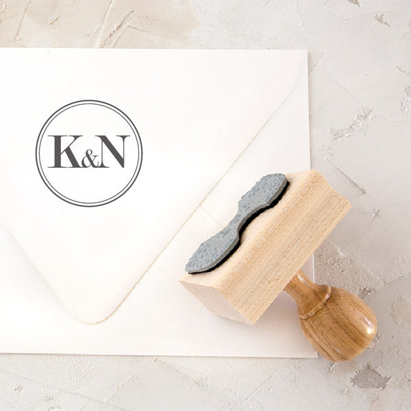 Minimal Classic Monogram Rubber Stamps for Fine Art Wedding Invitations | Heirloom Seals