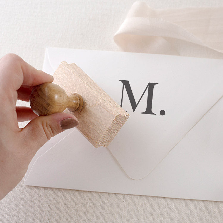 Minimal Personalised Monogram Rubber Stamps | Heirloom Seals