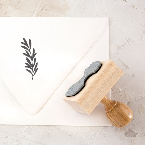 Olive Branch Rubber Stamp for Fine Art Wedding Invitations | Heirloom Seals