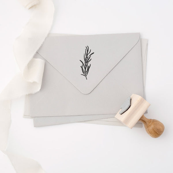 Rosemary Rubber Stamp for Fine Art Wedding Invitations | Heirloom Seals