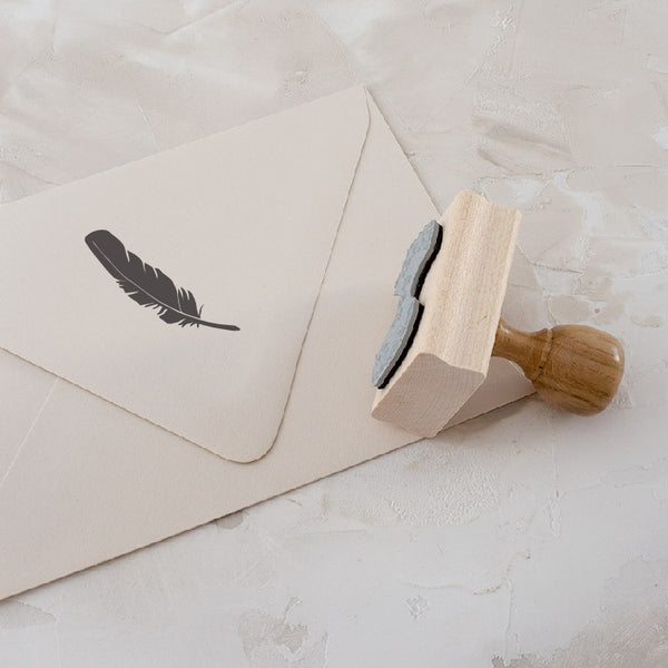 Feather Botanical Rubber Stamp Embellishment for Fine Art Wedding Invitations | Heirloom Seals