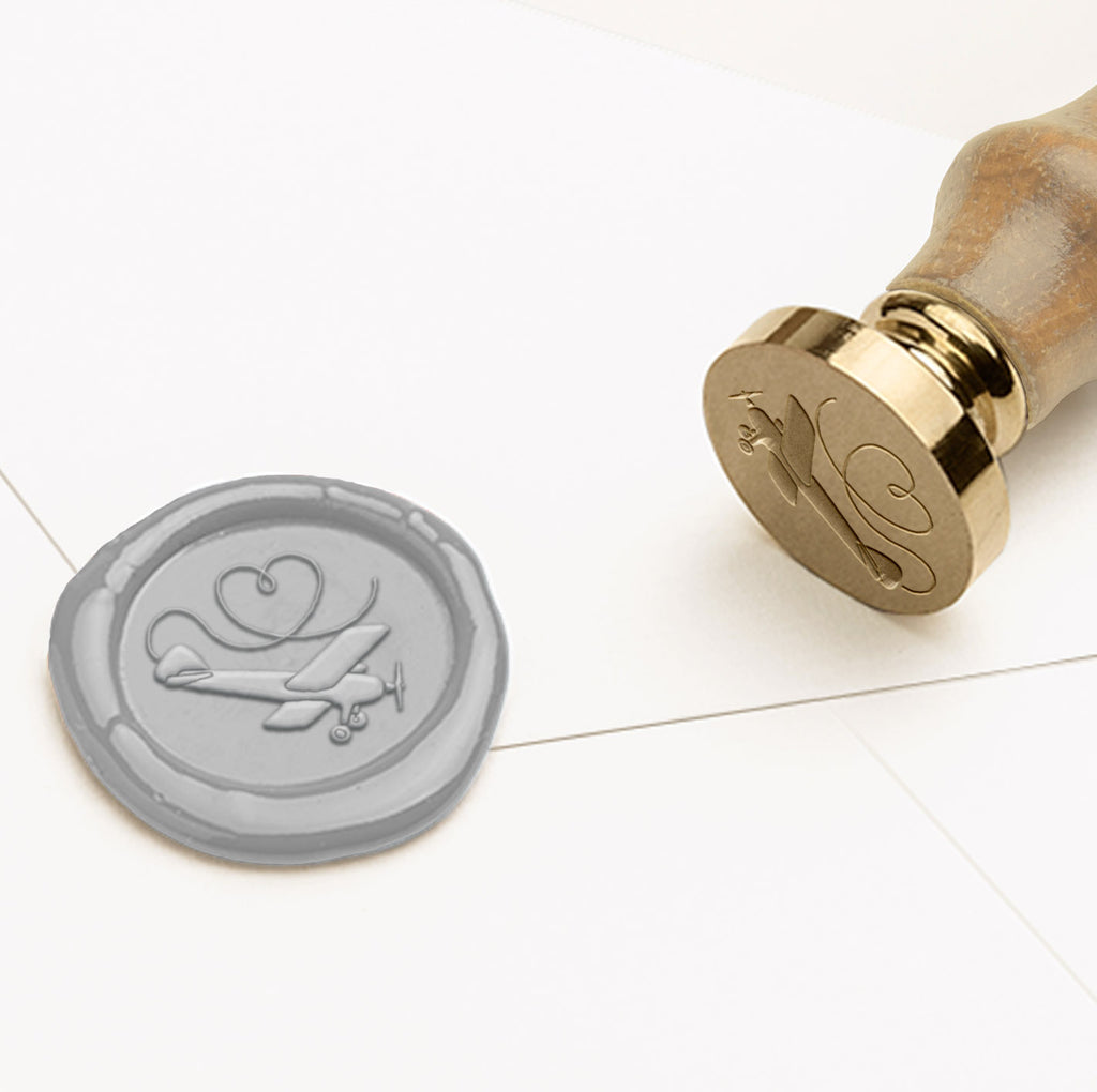 Aeroplane Travel Wax Seal Stamp | Heirloom Seals