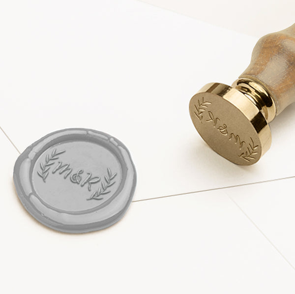 BOTANICAL MONOGRAM SELF-ADHESIVE WAX SEALS - NATALIE