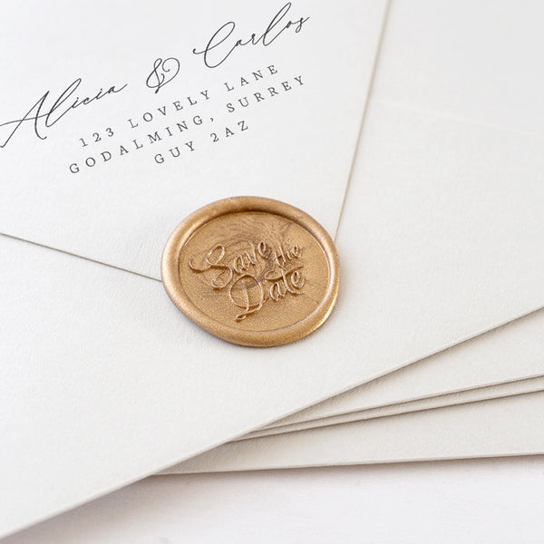SAVE THE DATE - Wax Seal Stamp