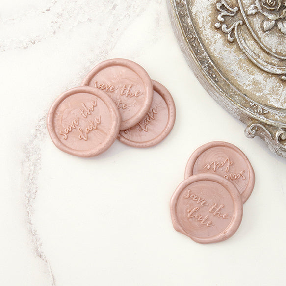 Blush Pink 'Save the Date' Wax Seals | Heirloom Seals