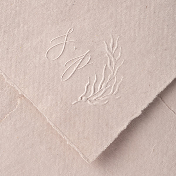 COASTAL MONOGRAM EMBOSSER - SEA GRASS