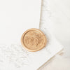 Sea Grass Seaweed Calligraphy Self Adhesive Wax Seals | Coastal Beach Wedding Wax Seal | Sea Breeze | Heirloom Seals