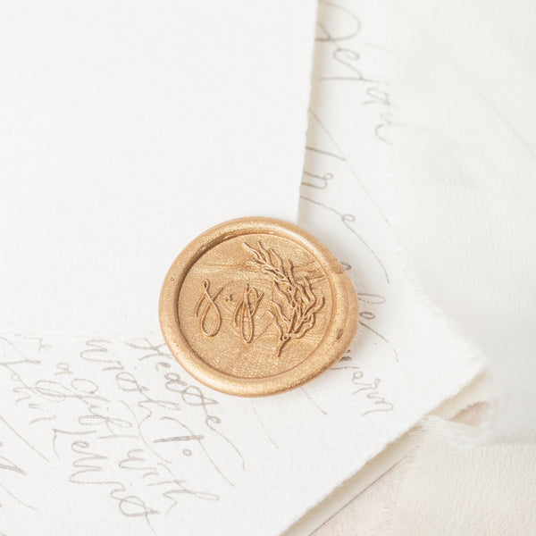 SEA GRASS - COASTAL MONOGRAM WAX SEAL STAMP
