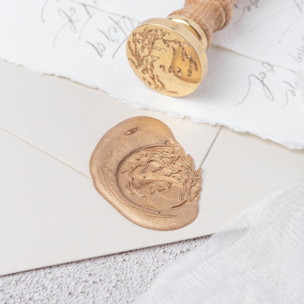 Sea Whistle Seaweed Monogram Wax Seal Stamp | Coastal Beach Wedding Wax Seal | Sea Breeze | Heirloom Seals