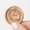 Sea Wreath Seaweed Self Adhesive Wax Seals | Coastal Beach Wedding Wax Seal | Sea Breeze | Heirloom Seals