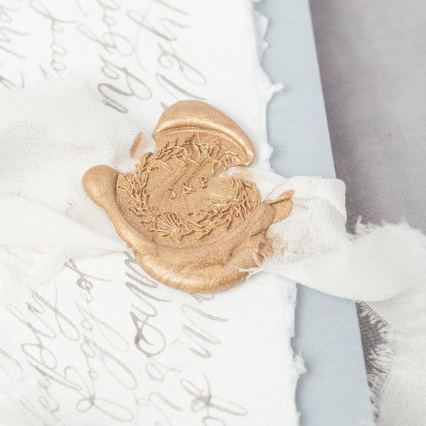 SEA WREATH - COASTAL MONOGRAM WAX SEAL STAMP