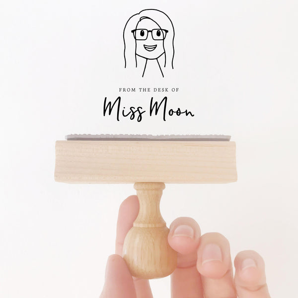 Teacher Classroom Rubber Stamp | Custom Hand Drawn People Appreciation Gift | Heirloom Seals