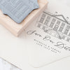 Venue Illustration Rubber Stamps | Personalised Design for Fine Art Weddings | Heirloom Seals