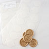Heirloom seal backing stickers for wax seals