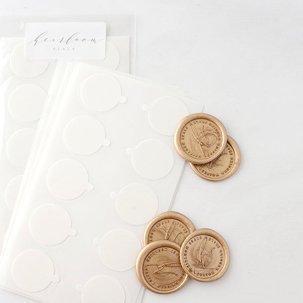 25mm peel and seal backing stickers for wax seals