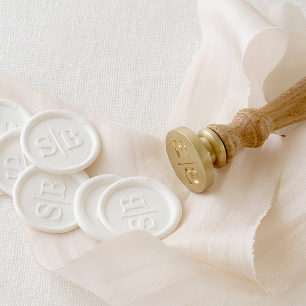 White Minimal Monogram Wax Seals | Heirloom Seals