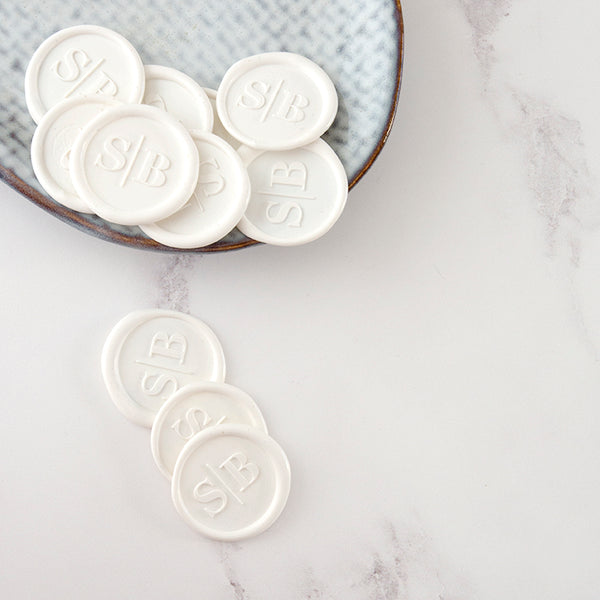 MINIMAL MONOGRAM SELF-ADHESIVE WAX SEALS - GRACE
