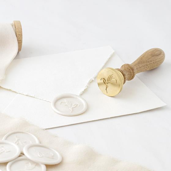 White Botanical Wax Seal | Pearl White Foliage Wax Seal | Heirloom Seals