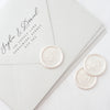 Pretty White Minimal Monogram Wax Seals | Heirloom Seals