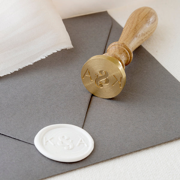 CHIC MONOGRAM WAX SEAL STAMP - HARPER