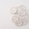 Pearl White Classic Monogram Wax Seals for Minimal Wedding | Heirloom Seals