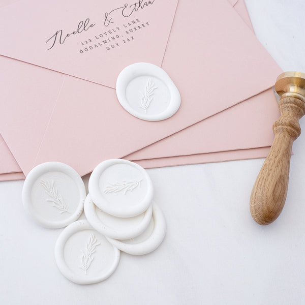 White Rosemary Botanical Sprig Wax Seals | Heirloom Seals