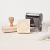 Wooden Block Rubber Stamp With Handle and Self Inking | Heirloom Seals