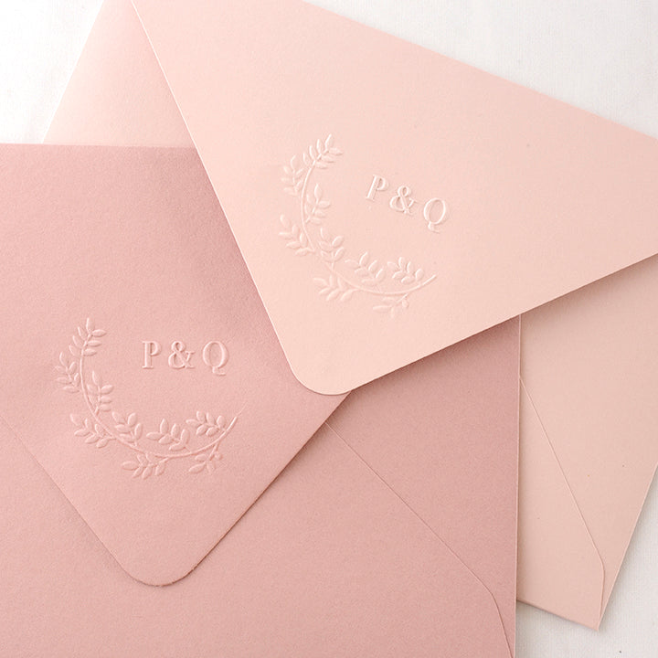 Botanical Monogram Embosser | Embossed Envelope | Heirloom Seals