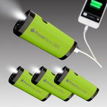 Pack of 4 Guaranteed PowerNow Buddy -2400mAh Power Bank with Flashlight (Green)