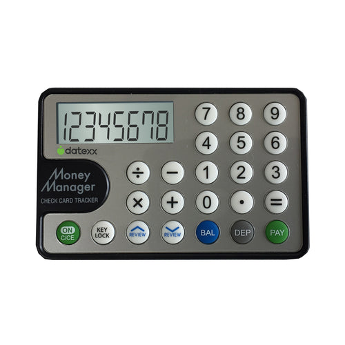 8-Digit Financial Calculator- Card Balance Tracker