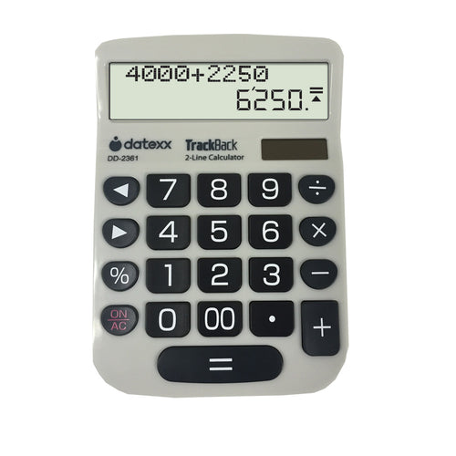 2-Line TrackBack Desktop Calculator