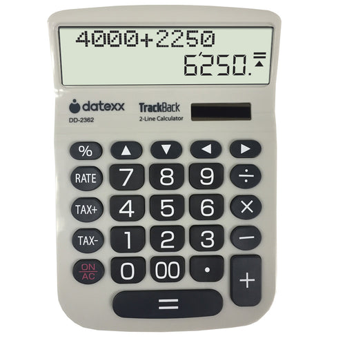 2-Line TrackBack Large Desktop Calculator