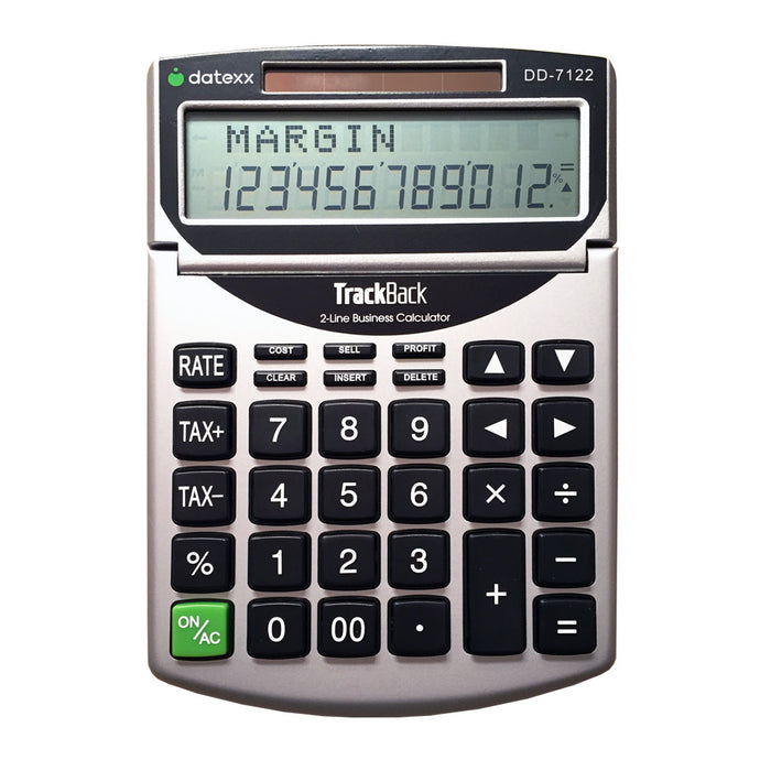 2-Line TrackBack Business Desktop Calculator