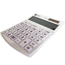 Hybrid Power 10 Digit Slim Desktop Calculator